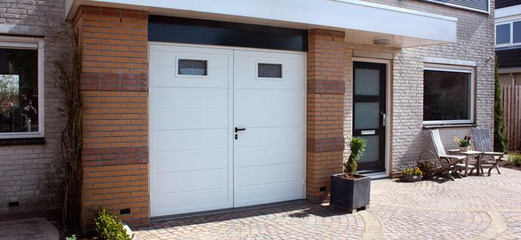 garagedeur zijn er verschillende mogelijkheden qua Duopoort/tuindeuren ...